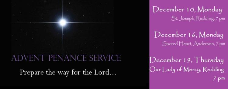 advent penance service our lady of mercy redding ca